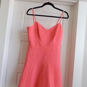 Black Halo Fit and Flare Textured Pink Dress 6